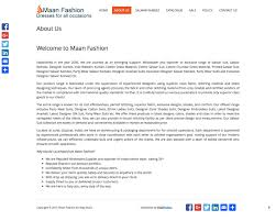 Web Design Example A Page On Maanfashion Co In Crayon