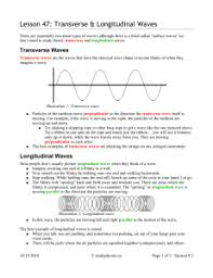transverse and longitudinal waves venn diagram waves