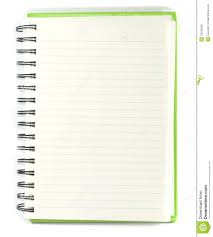 Notebook Paper Background For Word Paper Notebook Right Page With Pencil On White Background Stock 13