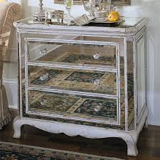 distressed mirrored furniture. Hooker Furniture Chests And Consoles Three Drawer French Mirror Chest - Item Number: 850- Distressed Mirrored E