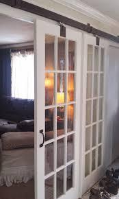 glass barn doors. Sliding Barn Door With Glass Doors