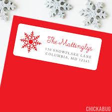Christmas Address Labels Snowflake