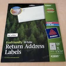Details About 600 Avery White Return Address Labels 2 3x1 3 4 Laser Inkjet Ecofriendly Green