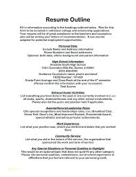 Scholarship Resume Objective Resume Template And Scholarship Resume