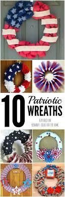 patriotic wreaths for front door4th of July Wreaths 10 Patriotic Ideas for Door Decor