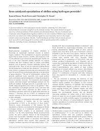 pdf study catalytic oxidation of alpha pinene using hydrogen peroxide iron iii chloride