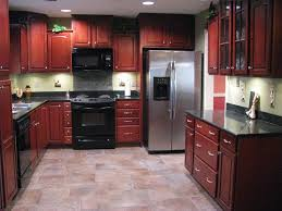 Small Picture porcelain tile plank floors with cherry cabinets been