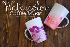 easy diy gifts watercolor coffee mugs you