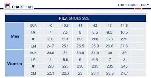 Fila Shoe Size Chart Fila Shoe Size Chart Sale Up To 36 Discounts