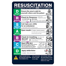 Pool Resuscitation Chart Cpr