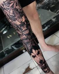 At Theinkculturebali Tattoo Studio Leg Wip By Oka On