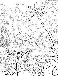 Tổng hợp các bức tranh tô màu phong cảnh mùa xuân rực rỡ dành tặng cho bé
