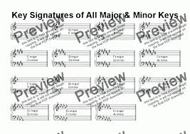 Helpsheet Key Signature Chart For Worksheets By Kevin Fairless Sheet Music Pdf File To Download