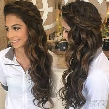 down style summer spring wedding boho braids big braids down wedding style curls half up prom