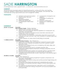 Resume Template Sample Assembler Resume Free Resume Template