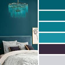 The Best Color Schemes For Your Bedroom,Teal And Purple Bedroom Color  Palette #color