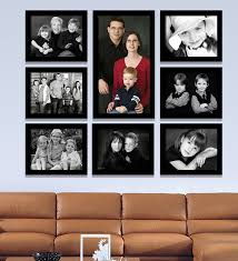 black synthetic 38 x 1 x 32 inch group 8 a wall collage photo frame
