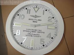 breitling wall clock 340 mm white 1884