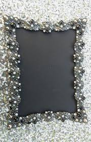 jeweled picture frames vintage style black rhinestone frame bling silver diamond chalkboard table number ornate photo