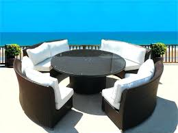 white wicker outdoor umbrella table round outdoor wicker dining sofa set patio furniture choose colors here