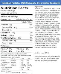 food label of oreos oreos nutrition facts calories in fudge cremes calories nutrition facts oreos nutrition