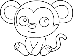 Small Picture Monkey Coloring Pages Coloring Pages Of Monkeys Top Free