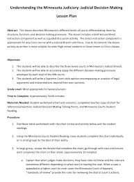 Understanding The Minnesota Judiciary Judicial Decision