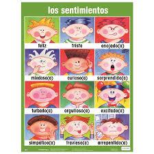 Spanish Feelings Chart Feelings And Emotions Spanish Lessons Tes Teach