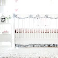 peach crib bedding light