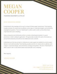 personal letterhead black and gold elegant personal letterhead templates by canva
