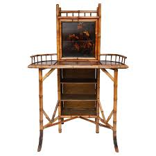 19th century english bamboo drop front writing desk see more antique and modern desks at