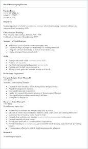 Housekeeping Resume Examples Professional Housekeeping Resume