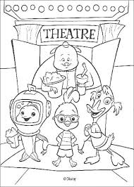 Small Picture Chicken little and friends at the theater coloring pages