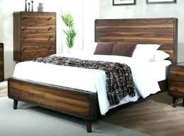 mid century modern king bed. Solid Walnut Bedroom Furniture Set Brown Mid Century Modern 6 Piece King Bed Be .