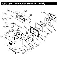 cpo130 wall oven door assy parts diagram