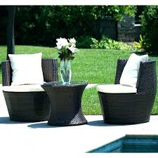 3 piece outdoor cushion sets wicker set conversation with cushions bench cu