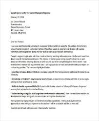 Changing Careers Cover Letter Career Change Cover Letter Sample