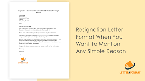 Free Resignation Letter Download export contract