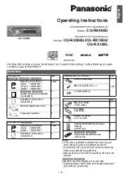 panasonic cqrxu auto radio cd mp deck manual panasonic cqrx200u cqrx100u user guide