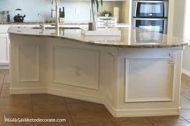Kitchen Makeover  Island Molding - Because I Like To Decorate