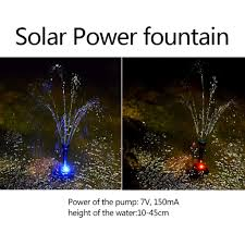 Fountain Lights And Pumps Amazon Com Gotian Artificial Waterfall Pond Fountain Solar