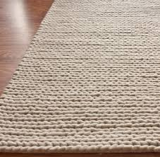 handmade braided cable off white new zealand wool rug