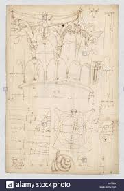 Pantheon Portico Corinthian Column Capital Projection Plan And