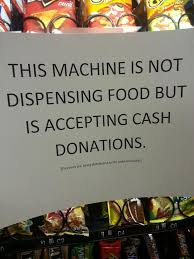 In Working Order As A Vending Machine Interesting Replacing 'out Of Order' Sign At The Work Vending Machine Funny