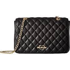 Moschino® Shoulder Bags − Sale: up to −40% | Stylight & Love Moschino Superquilting Shoulder Bag (Black) Handbags Adamdwight.com