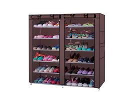 Footwear Display Stands New 100Row 100Line 1100 Lattices Shoe Cabinet Rack Shoes Stand Storage 88