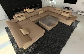 Xxl Couch Stoff Wohnlandschaft Enzo Als In Moderne Recamiere