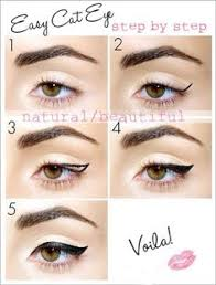 eyeliner fashion style step by step cat eye makeup