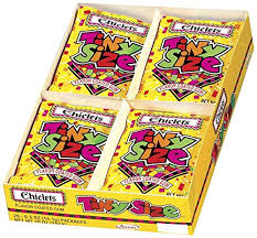 Amazon.com : Chiclets Tiny Size Gum, 0.5-Ounce Bags (Pack of 20 ...
