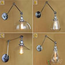 aliexpresscom buy vintage industrial lighting modern. modern vintage industrial long glass shades chrome plated sconce wall light lamps bedroom appliques luminaires aliexpresscom buy lighting o